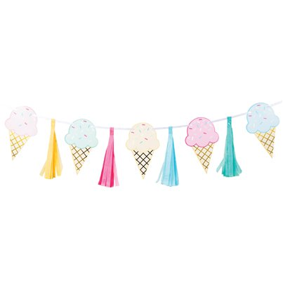 Ice Cream Foil Tassel Garland - 1.4m