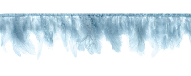 Misty Blue Feather Garland - 1m