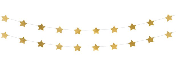 Gold Star Foil Garland - 3.6m