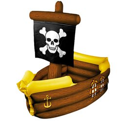 Inflatable Pirate Ship Cooler - 1.04m