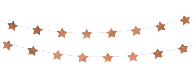 Rose Gold Star Foil Garland - 3.6m