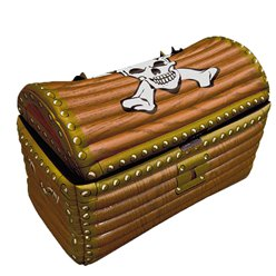 Inflatable Treasure Chest Drinks Cooler - 64cm