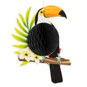 Toucan Honeycomb Decoration - 25cm
