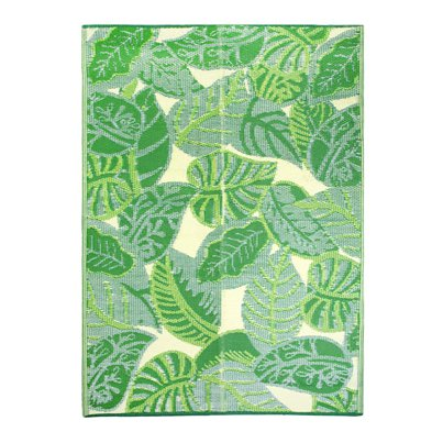 Tropical Palm Leaf Outdoor Rug - 1.8m x 1.2m