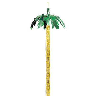 Foil Palm Tree Hanging Decoration - 2.43m