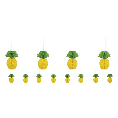 Pineapple Honeycomb Garland - 2.13m