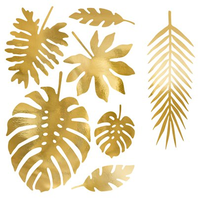 Gold Tropical Leaf Decorations