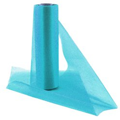 Turquoise Organza Sheer Roll - 25m