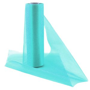 Aqua Organza Sheer Roll - 25m