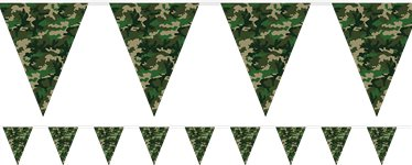 Camouflage Print Plastic Bunting - 3.7m