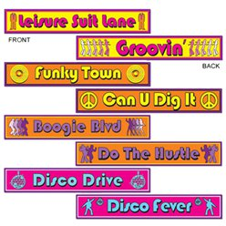Disco Street Sign Cutouts - 60cm