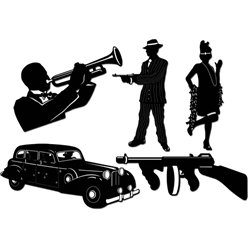 20s Gangster Silhouettes - 50cm