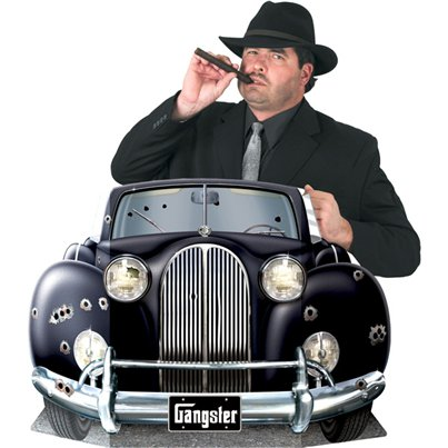 20s Gangster Car Photo Prop - 64cm