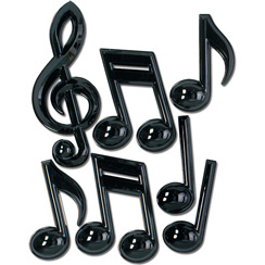 Musical Notes Party Decorations - Plastic 33cm