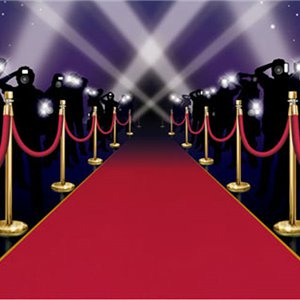 Red Carpet Instant Mural - 6ft