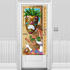 Tiki Man Bathroom Door Banner - 1.5m Hawaiian Decoration