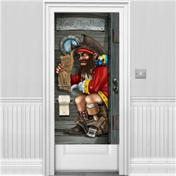 Pirate Captain Bathroom Door Banner - 1.5m