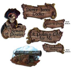 Pirate Sign Cutouts
