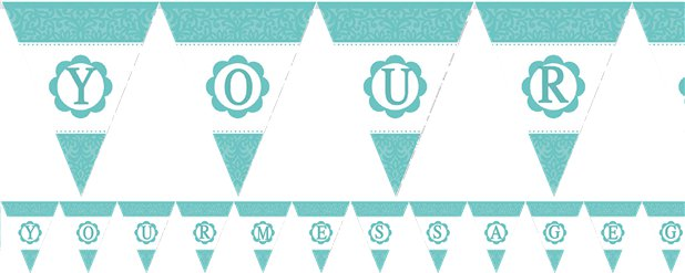 Personalise It Robins Egg Blue Alphabet & Number Bunting - 7.9m