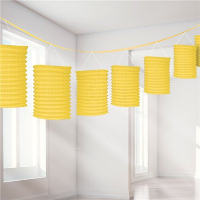 Yellow Paper Lantern Garland Decoration - 3.7m