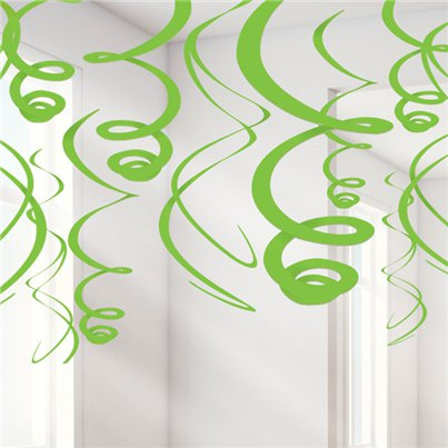 Lime Green Hanging Swirls Decoration - 55cm