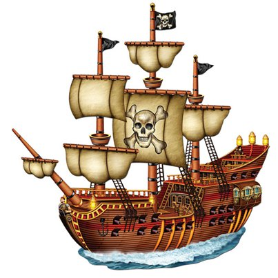 Pirate Ship Card Cutout - XLarge Card Cutout 78cm