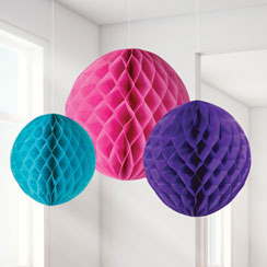 Brights Honeycomb Decorations - 20cm