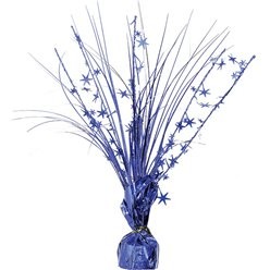 Blue Foil Spray Table Centrepiece - 30cm
