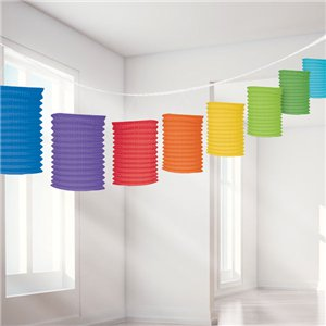 Rainbow Paper Lantern Garland Decoration - 3.7m