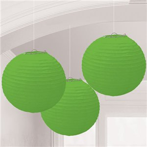 Lime Green Paper Lantern Decorations - 24cm