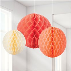 Blush Honeycomb Decorations - 20cm
