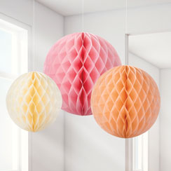Sorbet Honeycomb Decorations - 20cm