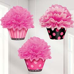 Cupcake Pom Pom Decorations - 40cm
