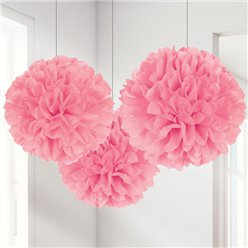 New Pink Pom Pom Decorations - 40cm