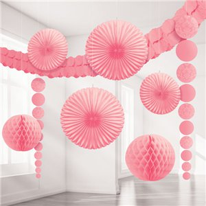 New Pink Damask Decorating Kit