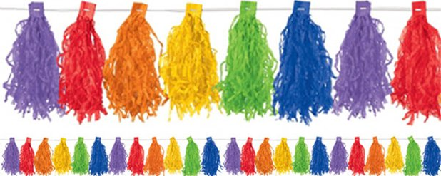 Rainbow Tassel Garland Decoration - 3m