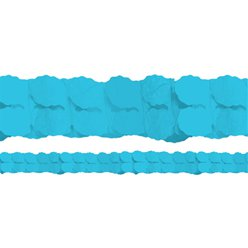 Turquoise Paper Garland Decoration - 3.7m