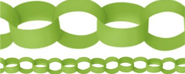 Lime Green Paper Chain Garland Decoration - 3.9m