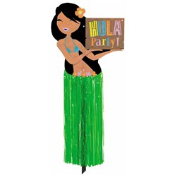 Hula Girl Garden Sign - 60cm Hawaiian Decoration
