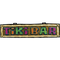 Tiki Bar Sign - 1m Hawaiian Decoration