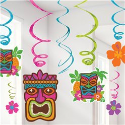 Tiki Luau Hanging Swirls - 55cm Hawaiian Decoration