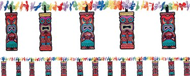 Tiki Flower Lei Garland - 2.28m Hawaiian Decoration