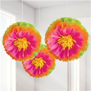 Hibiscus Pom Pom - 40cm Hawaiian Decoration