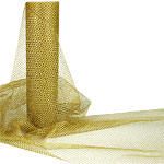 Gold Metallic Tulle Roll - 10m