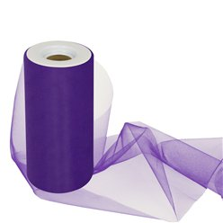 Purple Tulle Roll - 15cm x 25m