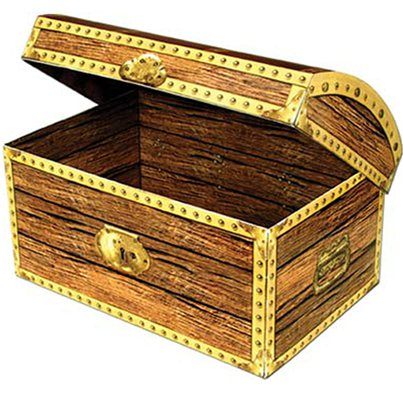 Large Treasure Chest Box - 30cm
