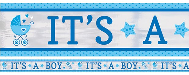 Baby Shower 'It's a Boy' Foil Banner - 7.6m