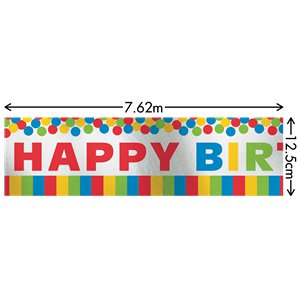 Giant Primary Colour Foil Banner - 7.62m