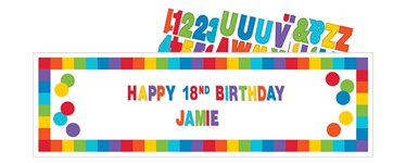 Primary Colour Giant Personalisable Sign - 1.65m