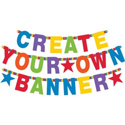 Primary Colour Personalisable Letter Banner - 11.5cm tall